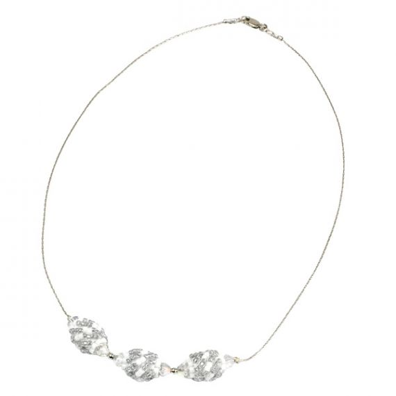 Teaberry Necklace Silver