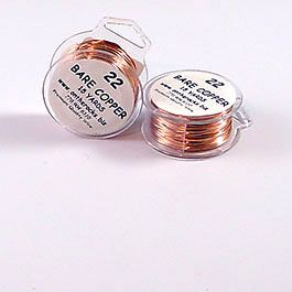 WIRE BARE COPPER 22G